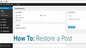 Restoring Posts