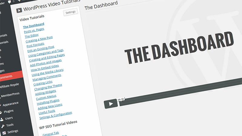 New WordPress tutorial videos!