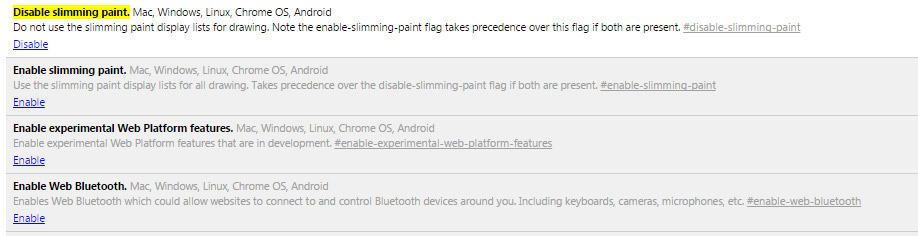 Chrome bug fix
