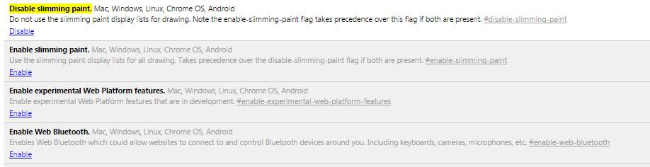 Chrome bug fix